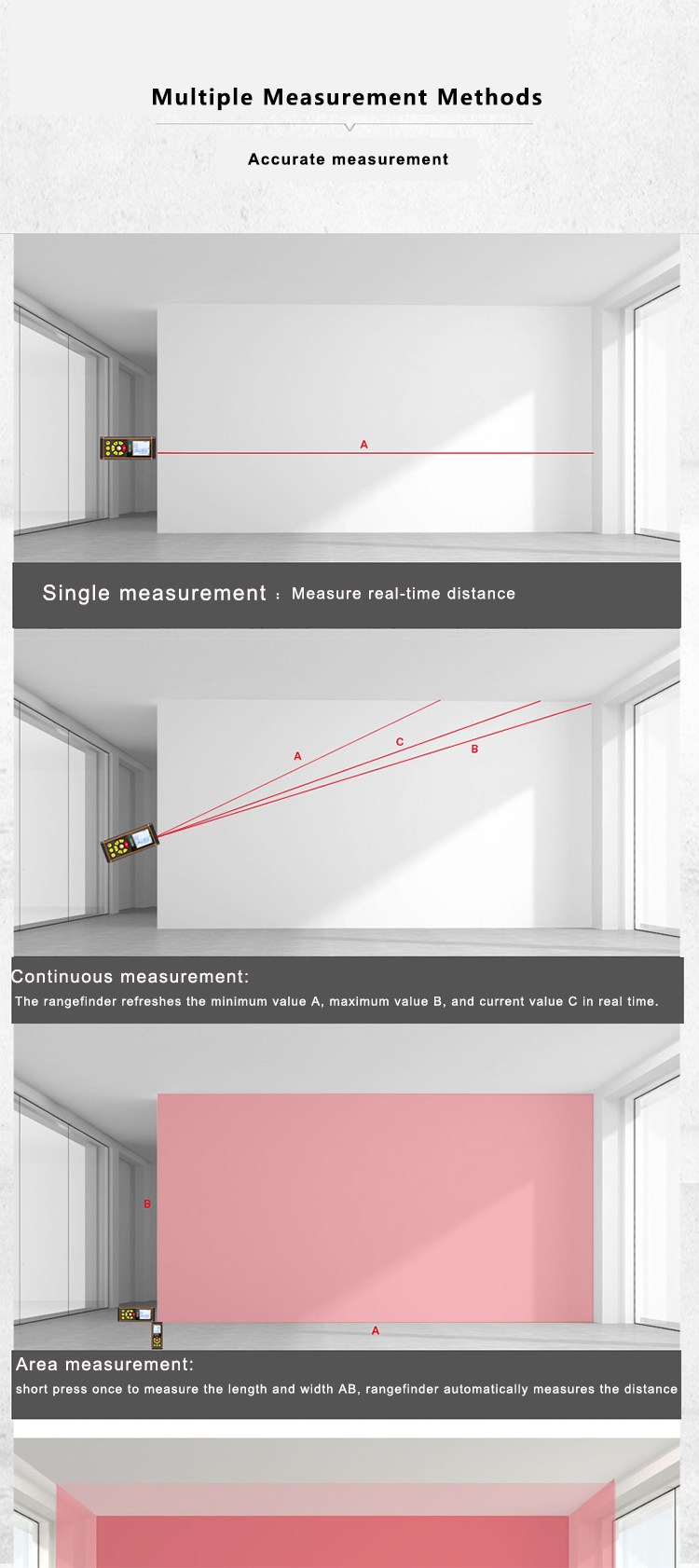 How to measure laser distance meter