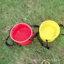 10L/20L/30L PVC Tarpaulin Outdoor Folding Bucket