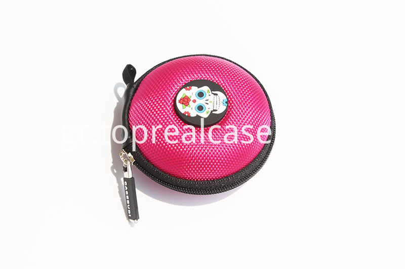 round earphone case