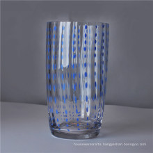 Long Mouth Blown Water Drinking Glass