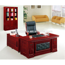 2015 new design wooden semi circle office desk with L-shape front desk