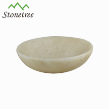 Hot Sale New Wholesale White Natural Stone Oval Dish Marble Bowl