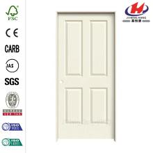 28 polegadas x 80 polegadas Liso 4 painéis pintados moldados Single Prehung porta interior