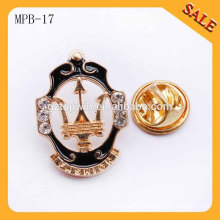MPB17 wholesale custom promotional gift metal badge enamel lapel pin badge
