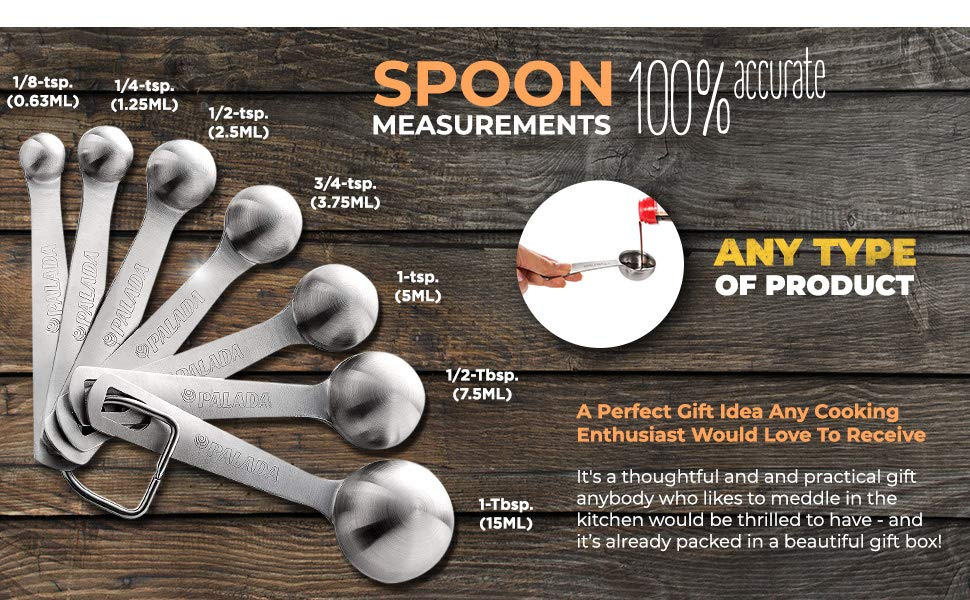 Measuring Spoons Stainless Steel function