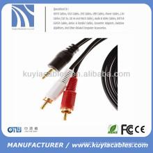 Câble audio stéréo Câble 3,5 mm mâle à 2rca mâle mono à stéréo 3Mètre