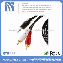 Stereo Audio Cable 3.5mm male to 2rca male mono to stereo cable 3Meter