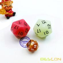 35MM Big Sized 20 Sides Dice in Various Colors