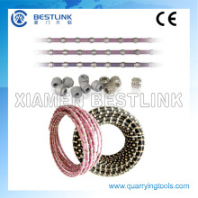 Diamond Wire Saw Cutting for Marble Profiling and Square Cutting