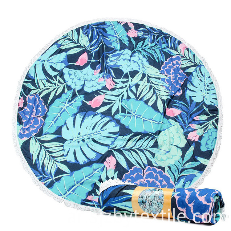 colorful round beach towel