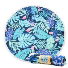 Good Quality Colorful Blue Round Beach Towels towel
