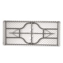 Novo design de lazer tempo ao ar livre dobrável camping mesa de plástico branco dobrável mesa de piquenique