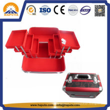 Алюминиевый ящик для органайзера для макияжа с 6 лотками (HB-2020)