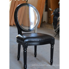 Victoria glossy black banquet louis chairs XD-0101