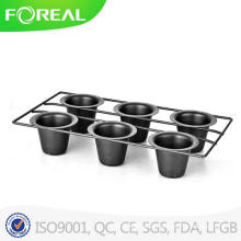 Black Metal Wire Barbebue Rack with Cups