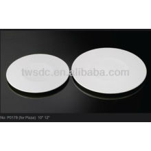 P001-Strong white plates dishes for hotel banquet