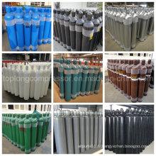 Cylindre de gaz de gaz carbonique d'hydrogène à hydrogène d'hydrogène à oxygène sans soudure en acier oxygène (EN ISO9809 / GB5099)