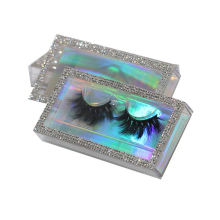 F176H Hitomi Private Label Real Mink Lash Long Eyelash soft natural mink eyelashes Fluffy 25mm Magnetic Mink Eyelashes