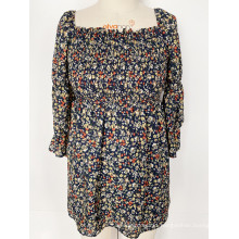 Spring and autumn flowered dresses