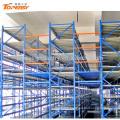 medium duty multi-level mezzanine platform racking system