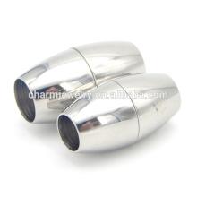 BX012 joyería Encontrar corchete magnético del final del cordón del acero inoxidable - diseño redondo elegante - cabe 6 / 7m m Cord