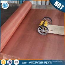 Aseguramiento comercial 40 60 80 100 120 malla 200 malla de aleación de cobre rojo tejido emi escudo paño de metal