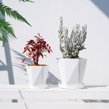 Good quality outdoor indoor garden modern flower pots planters large plastic flower plants pots for plants