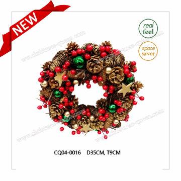 Dia. Courroie de Noël pour décoration fête et plastique de 35cm