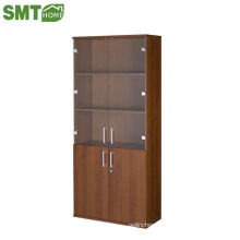 Big bookcase wood with 2 door hot sale with cheap price