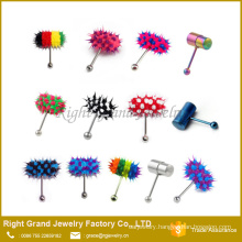 Fashion Colorful Silicone Vibrating Tongue Bar Ring Jewelry