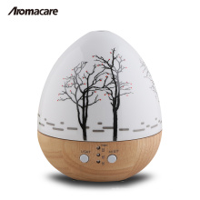 Aromacare Hot Product Mini Egg Wood 150ml Wooden Glass Aroma Difusor 20071
