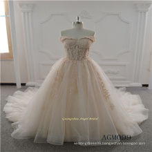 New Design Lace Wedding Dress with Long Train 2017