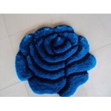 Blauer Rosen-Entwurfs-Teppich Dmy-H37