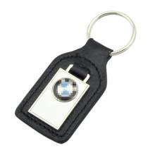 Promoción metal PU cuero BMW anillo clave con logotipo (f3049)