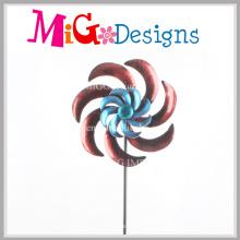 Piquet de spinners à vent de jardin Pieu en métal à fleur bleue excellent