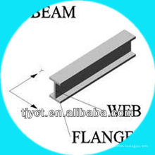 Viga em aço inoxidável grau 316L ASTM A484