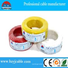 China Fabricación 2X10mm2 cable plano sólido de la envoltura para la aplicación de la casa