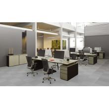 Bureau de bureau ouvert moderne Bureau de bureau Table de travail avec partition d'écran (HF-JND04)