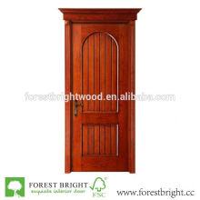 Puerta de madera rústica de nuevo diseño con la parte superior arqueada