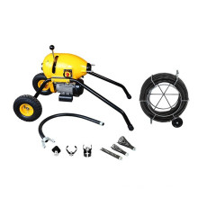 S200 mobile electric wire drain cleaner with large wheels,robust design