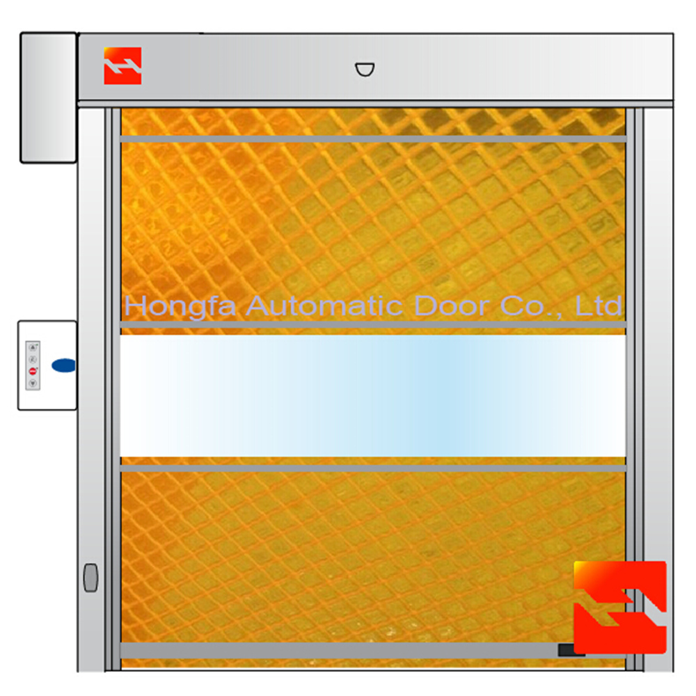 High Speed Door Transparent Yellow Net