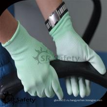 SRSAFETY цветная рабочая перчатка с хорошей перкой / зеленой перчаткой для перчаток для перчаток