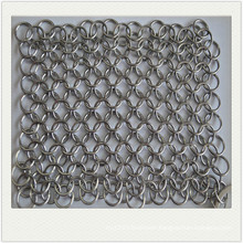 6*8inch Cast iron cleaner / stainless steel chainmail scrubber / kitchen cleaning