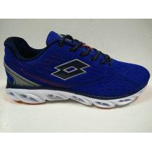 Dark Blue Breathable Lace up Jogging Shoes for Men
