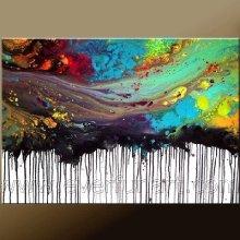 Картина абстрактного искусства горячего сбывания абстрактная на холстине для домашнего декора (XD1-303)