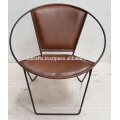 Genuine Leather Round Shape Classic Design Chair