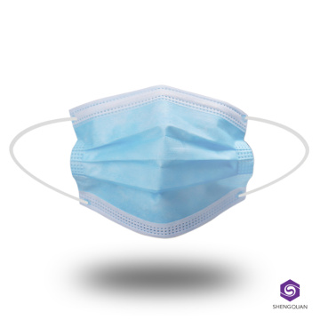 Masque facial non tissé jetable 3ply Earloop
