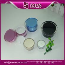 Plastic Beauty Cream Embalagem E Acrílico Pequena Forma Vazio Cosmético 5g 10g Nail Polish jar