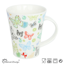 Romantic Colorful Butterfly Decal V Shape Mug