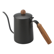 Painting Coffee Kettle With Wooden Handle And Knob